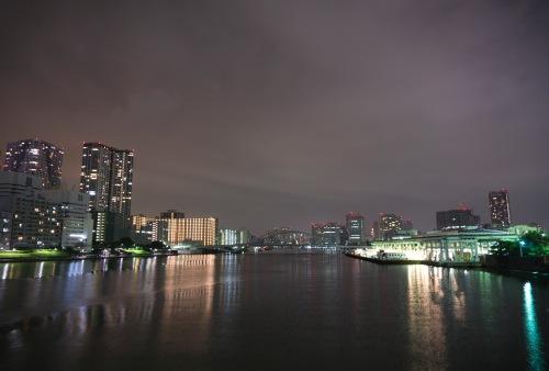 panorama notturno fiume